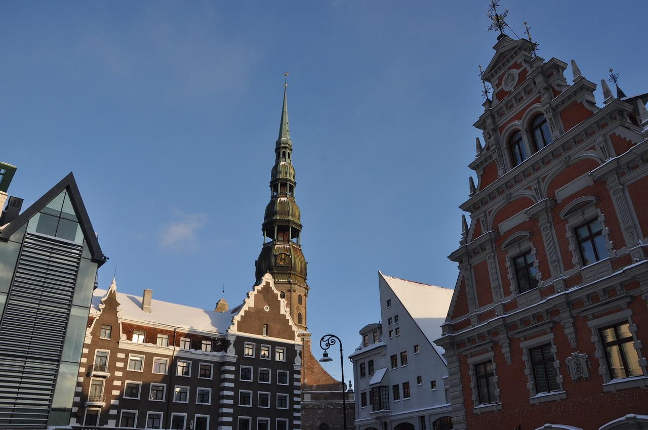 Латвия Рига Ратушная площадь