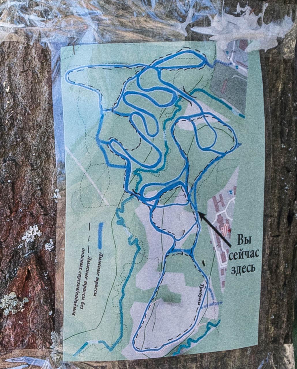 схема лыжной трассы Зеленограда